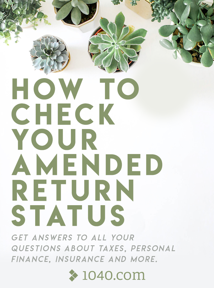 How to check your amended return status || Get answers to ...