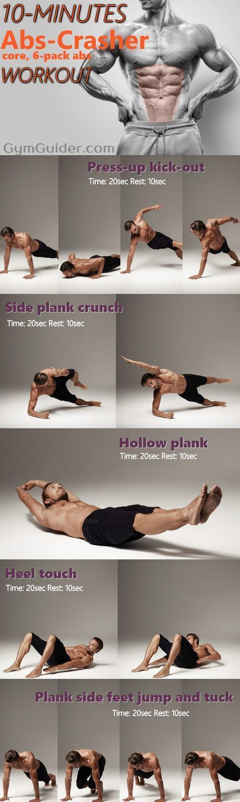 10 Minute Home Bodyweight Abs Crusher Workout - GymGuider.com