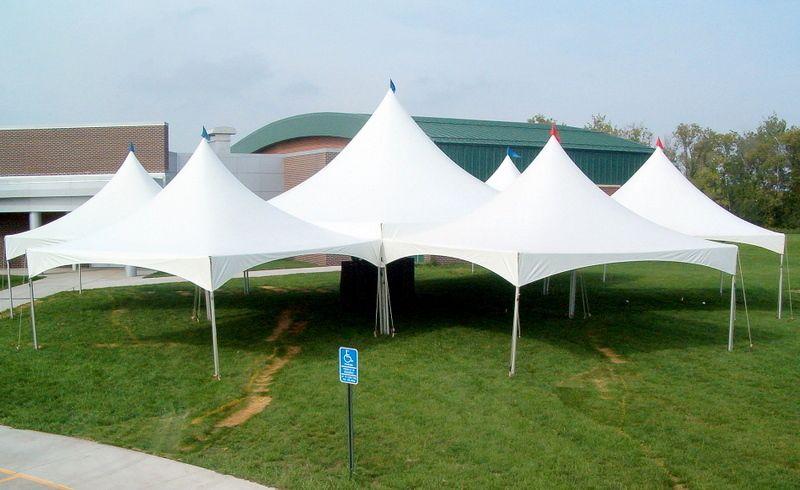 Hexagon tent and 6 - 20 x 20u0027s set up at Anoka Ramsey Community College - & Hexagon tent and 6 - 20 x 20u0027s set up at Anoka Ramsey Community ...