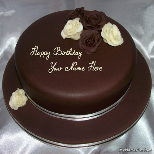 Best 1 Website For Name Birthday Cakes Write Your On Rose Chocolate Picture In Seconds Make Awesome With New Happy