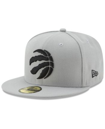 03759783 New Era Toronto Raptors Basic 59FIFTY Fitted Cap 2018 - Gray 7 1/8