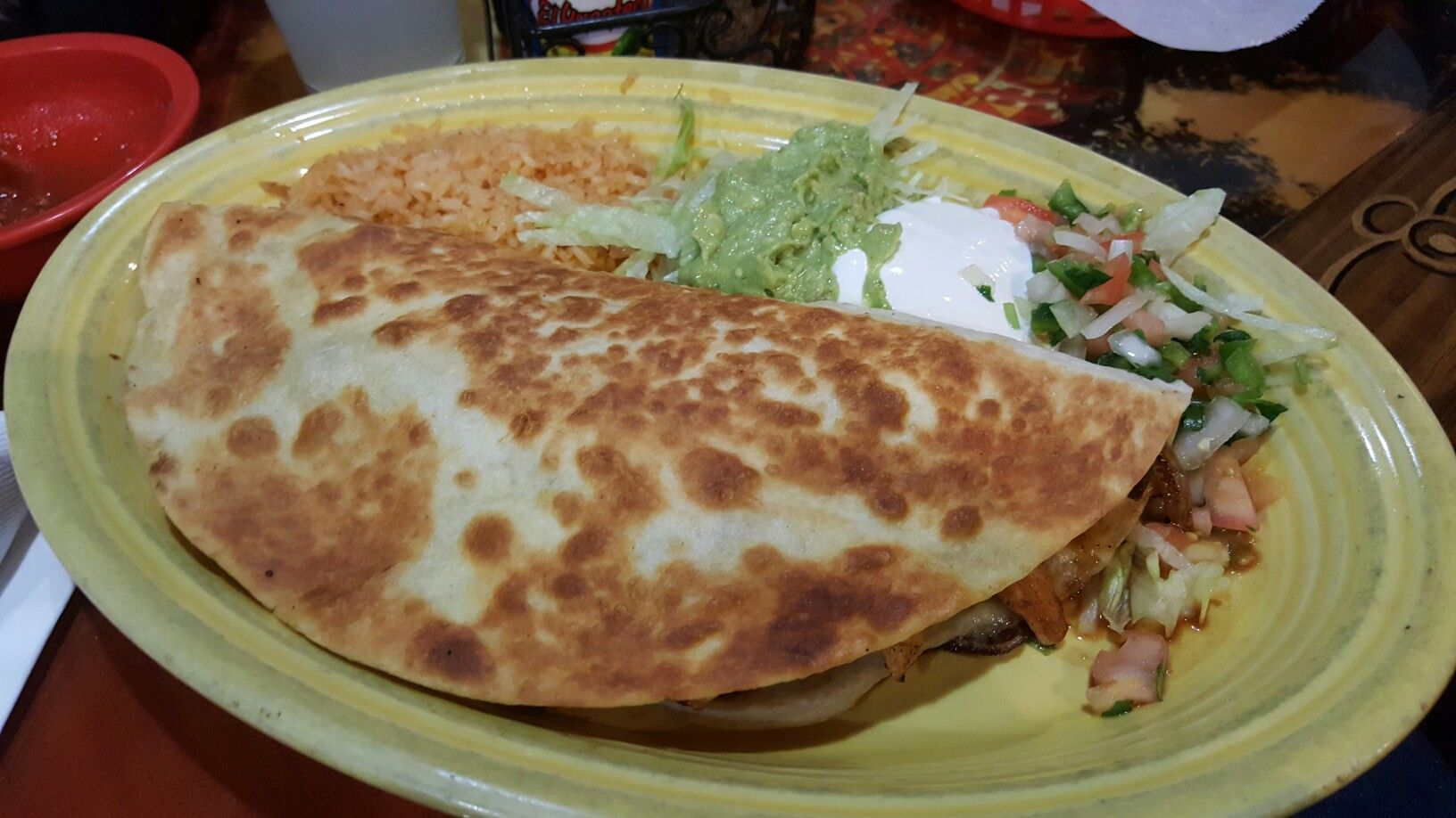 Quesadilla Mazatlan At Riviera Maya Mexican Restaurant In Fishers