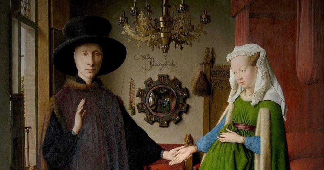 Jan van Eyck Die ArnolfiniHochzeit 1434    1