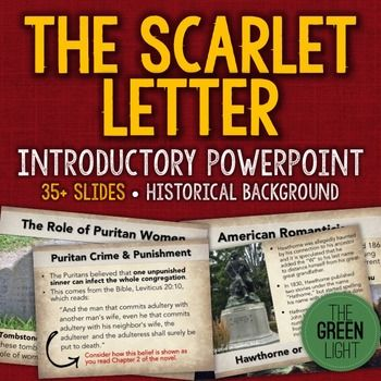 The Scarlet Letter Introductory PowerPoint, Activity, and - introductory letter