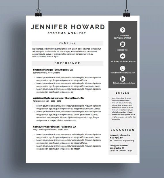 Professional Resume Templates CV Template + Cover Letter - microsoft word resume template for mac