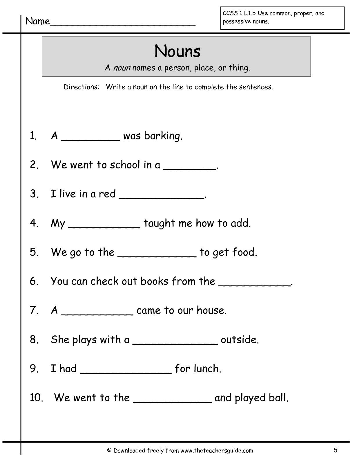 First 1st Grade Worksheets