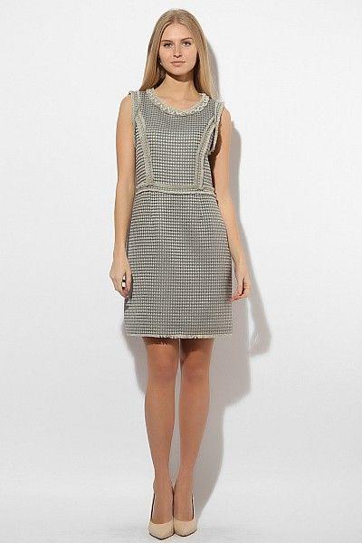 Трикотажное платье шанель