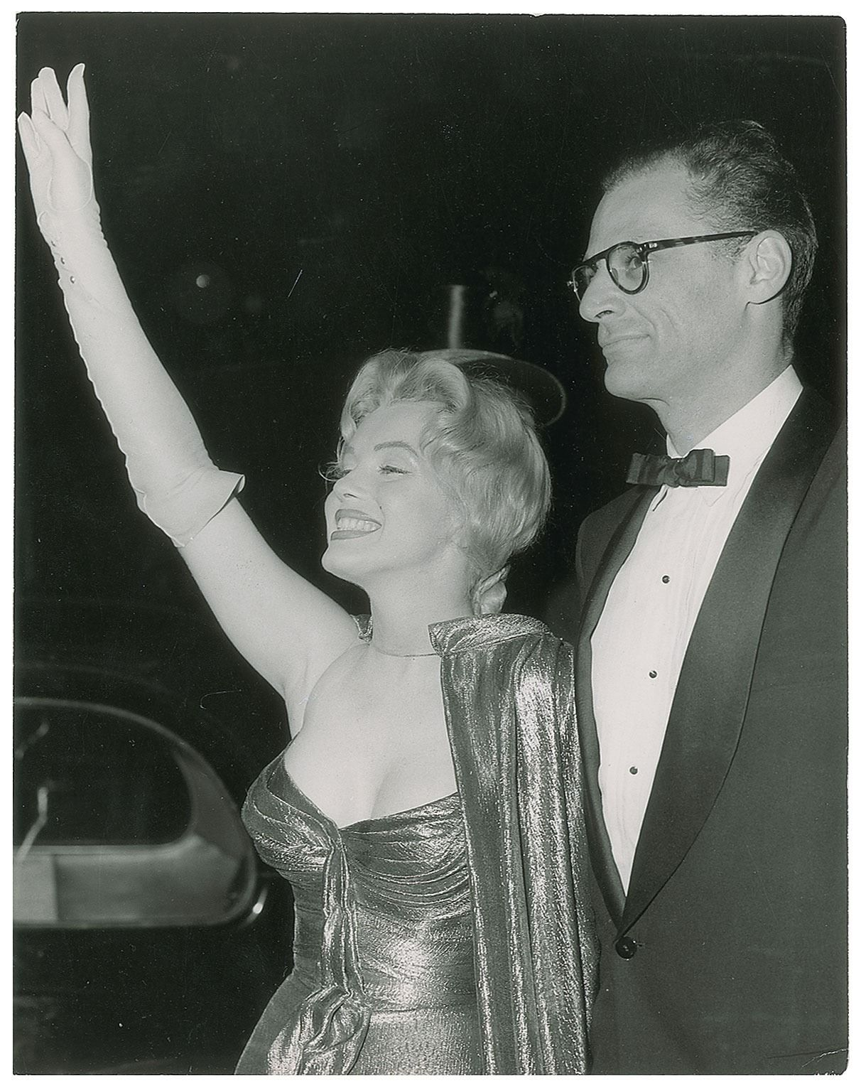 Marilyn And Arthur Miller At The Royal Film Premiere Of The Battle