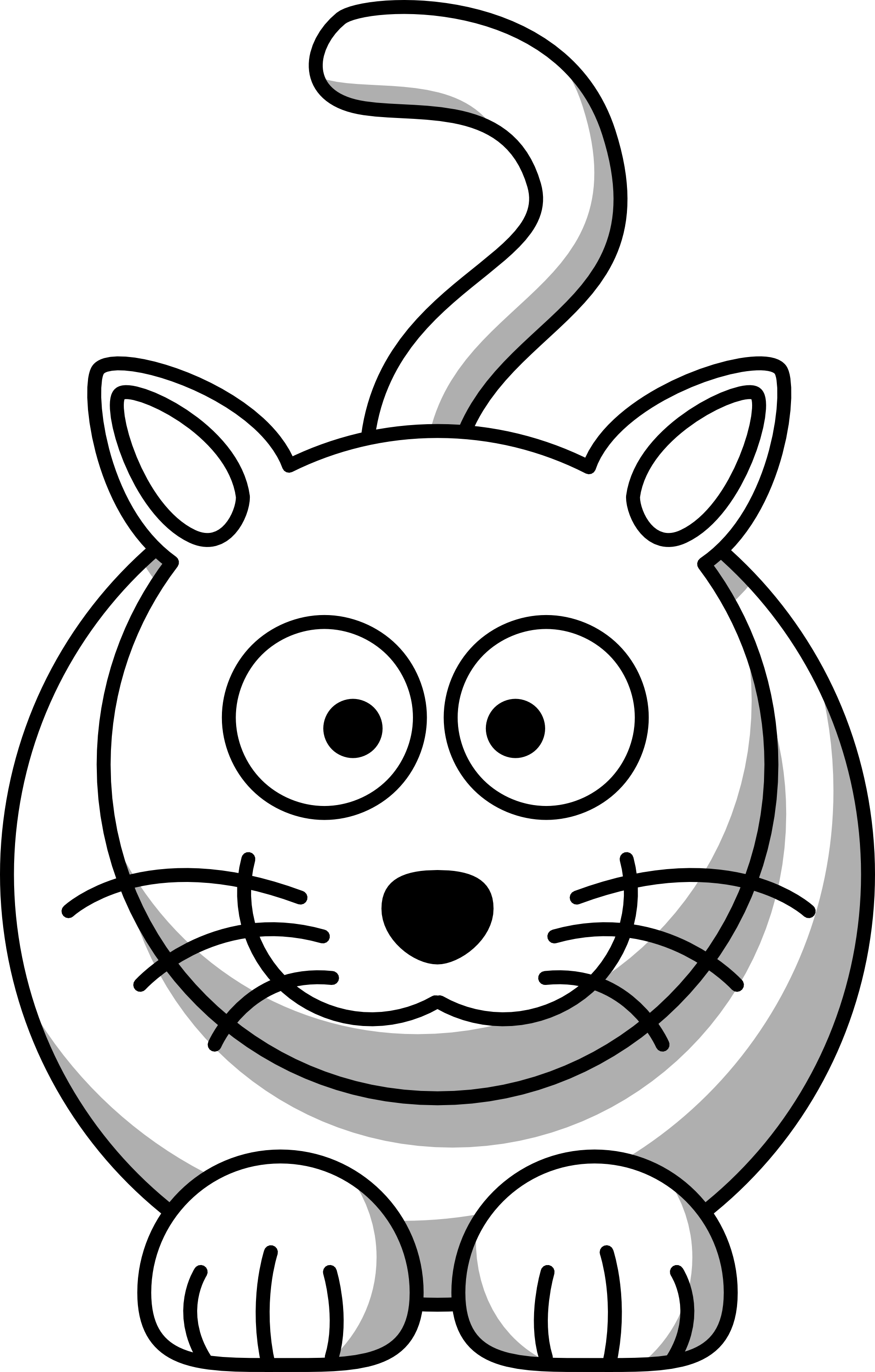 Cartoon Animals Black And White Pictures 5 HD Wallpapers