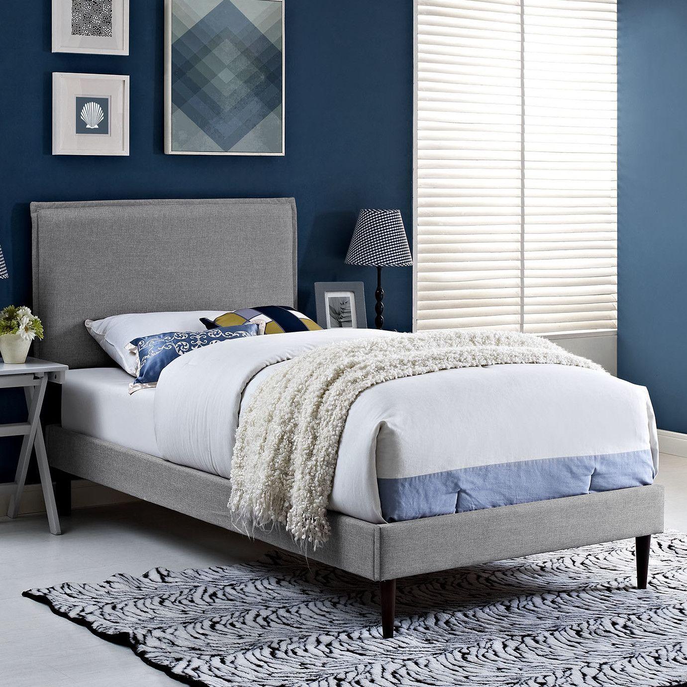 Best Camille Upholstered Platform Bed Bed Platform Bed 640 x 480