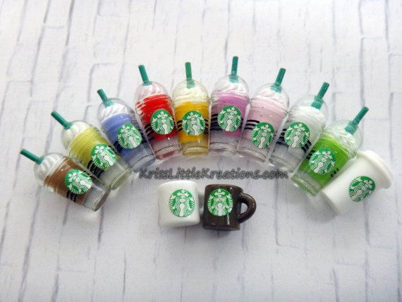 1:12 Dollhouse Miniature Toy Plastic Frappuccino Soft Drink Milk Shake 6PC Set