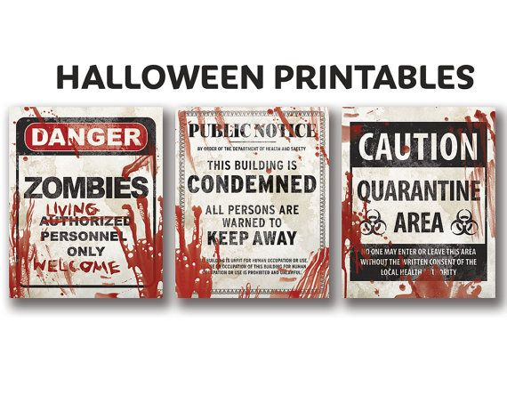 image about Quarantine Signs Printable named Consider all 3 of our horrifying Halloween printable indicators and