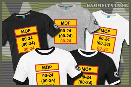 MÖP 24 7 T-shirt. MÖP står för Militärt Överintresserad Person och ... 095799615dabe