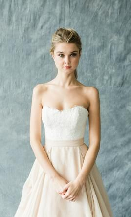61efeeafdd0 Carol Hannah Kensington skirt and lace bustier wedding dress currently for  sale at 18% off retail.