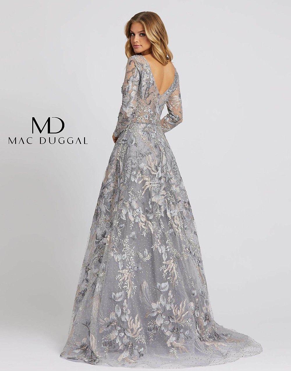 Mac Duggal 20214d Long Sleeve Embroidered Dress Long Sleeve Dress Formal Long Sleeve Embroidered Dress Mac Duggal Dresses [ 1275 x 1000 Pixel ]