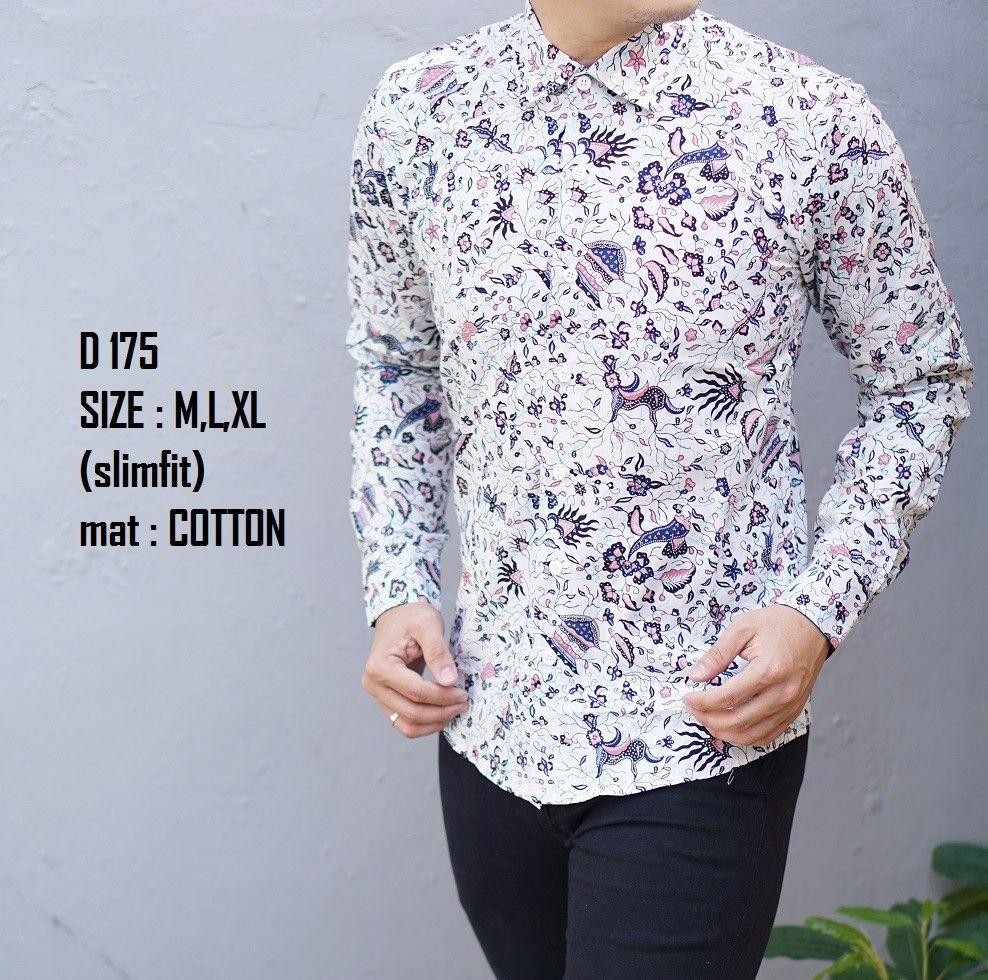 Dijual Baju Batik Pria Slim Fit Modern Lengan Panjang D175 Berkualitas   150rb 3458562094