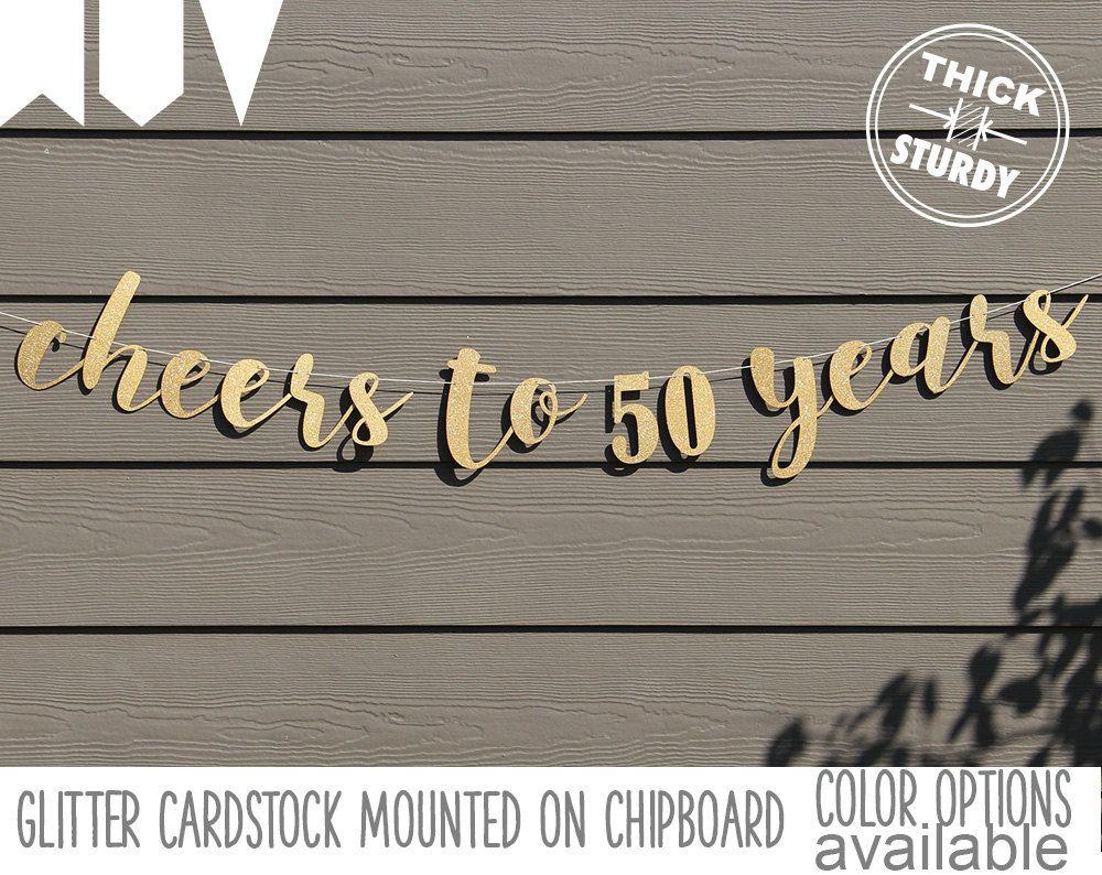 cheers to 50 years 50th birthday banner happy birthday banner