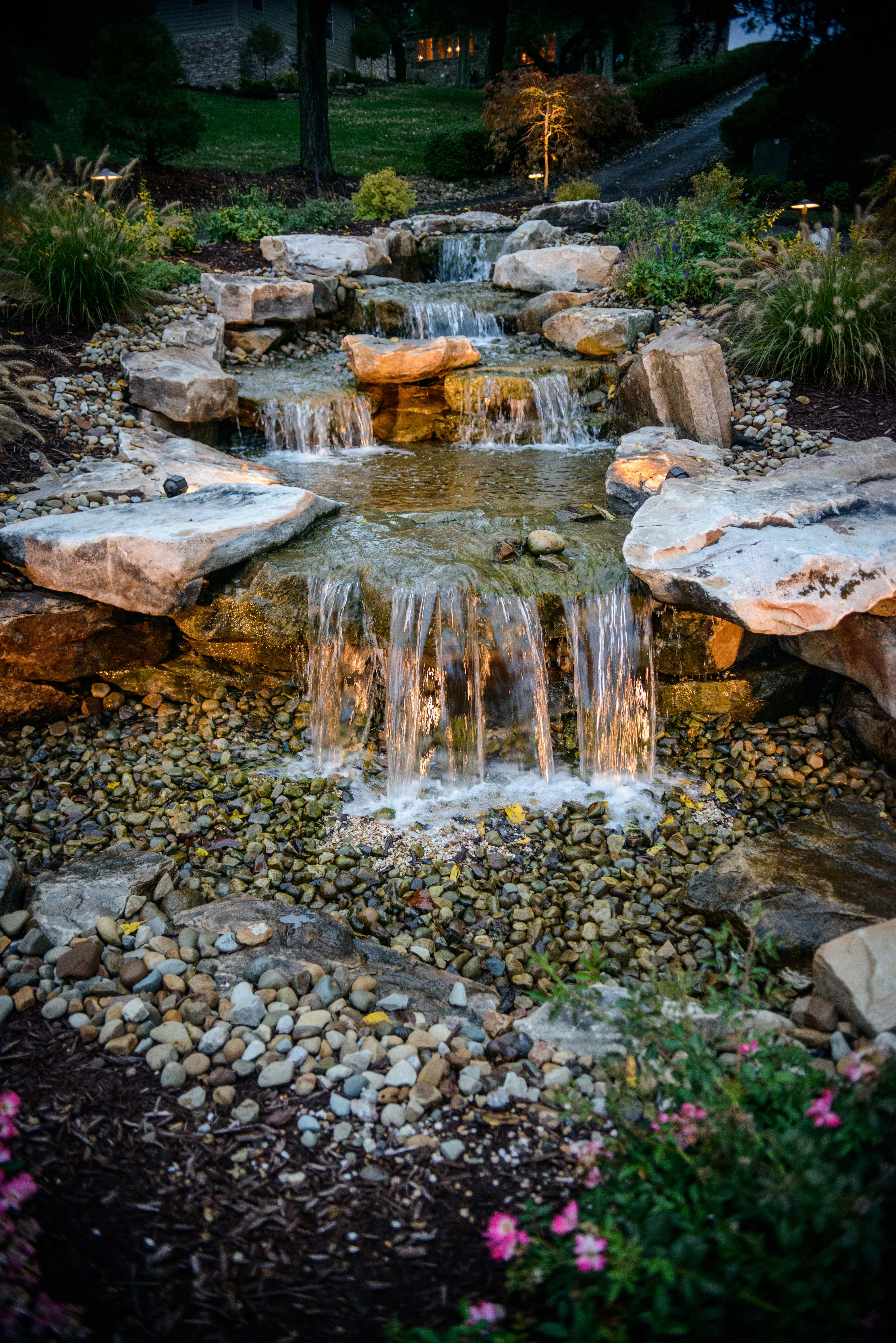 Pin by pittsburgh stone waterscapes landscape and for Pool design mcmurray pa
