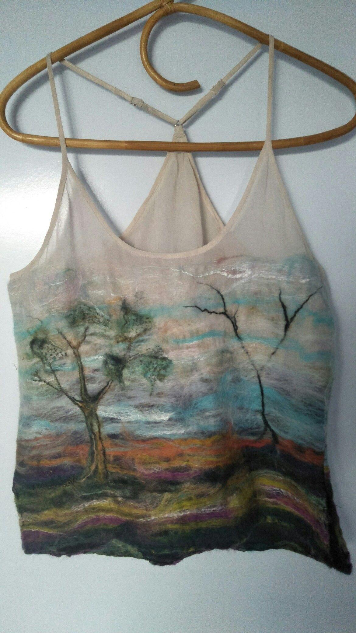 Julie Austin Nuno Felted Silk thrift shop singlet Merino