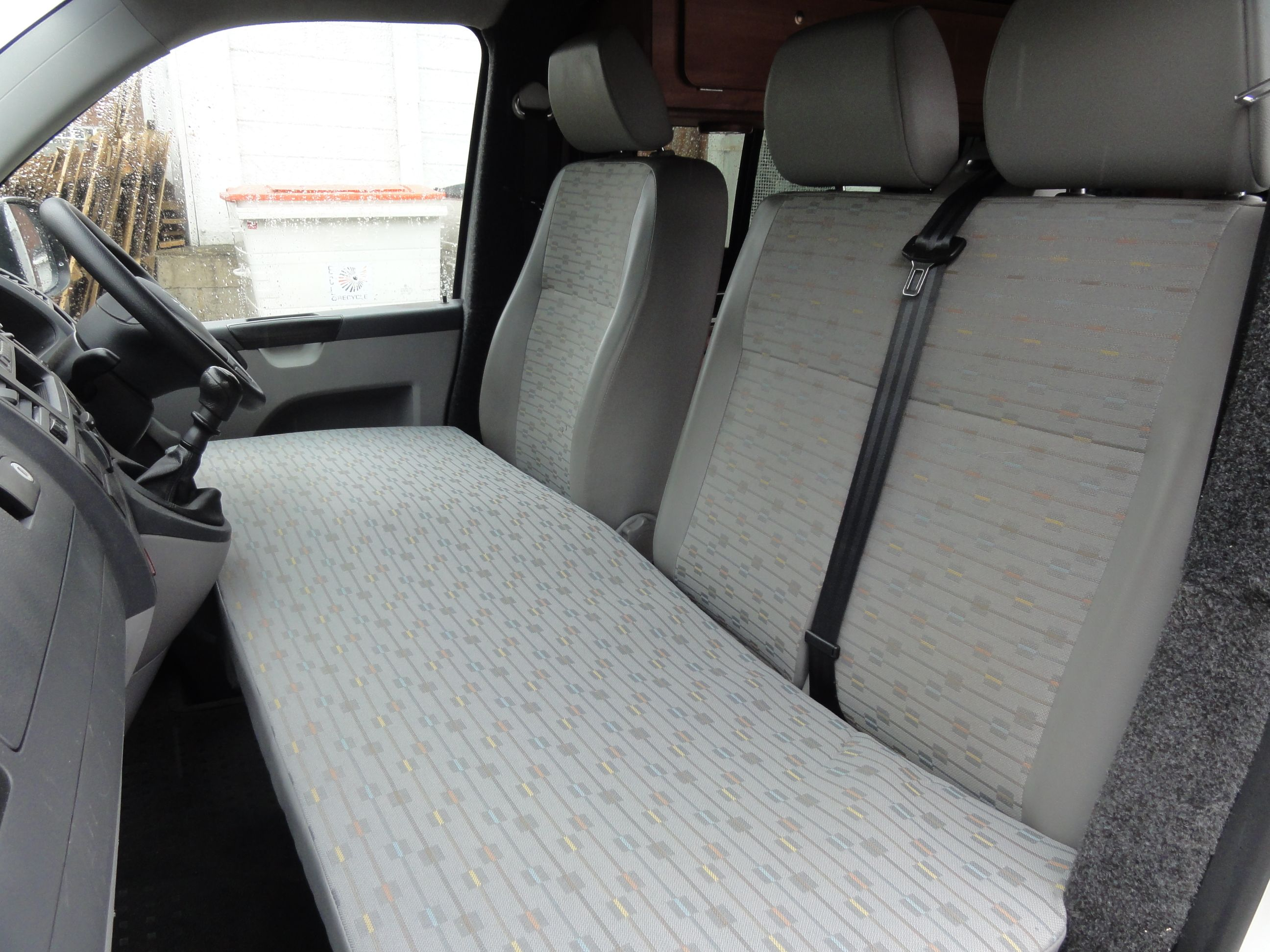 Cabin bed mattress with bag in place oem vw matching trim