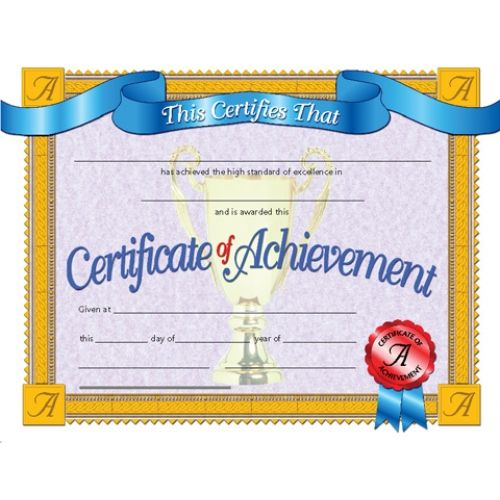 Certificate Of Achievement Recognize Student Achievement With