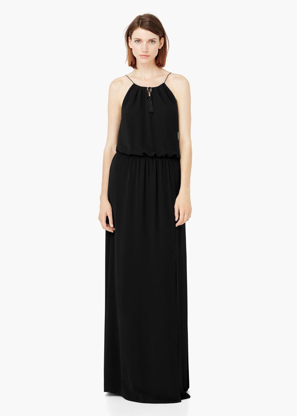 Langes, fließendes kleid -  Damen | MANGO