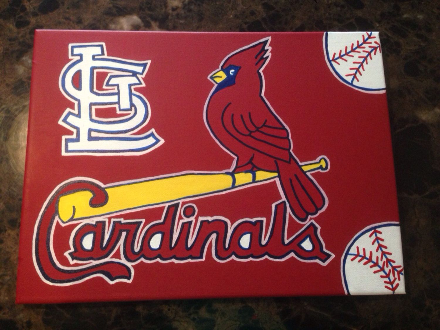 St Louis Cardinals Mlb Baseball Team Acrylic By Jolynnsplace 50 00 St Louis Cardinals St Louis Cardinals Baseball Mlb Baseball Teams