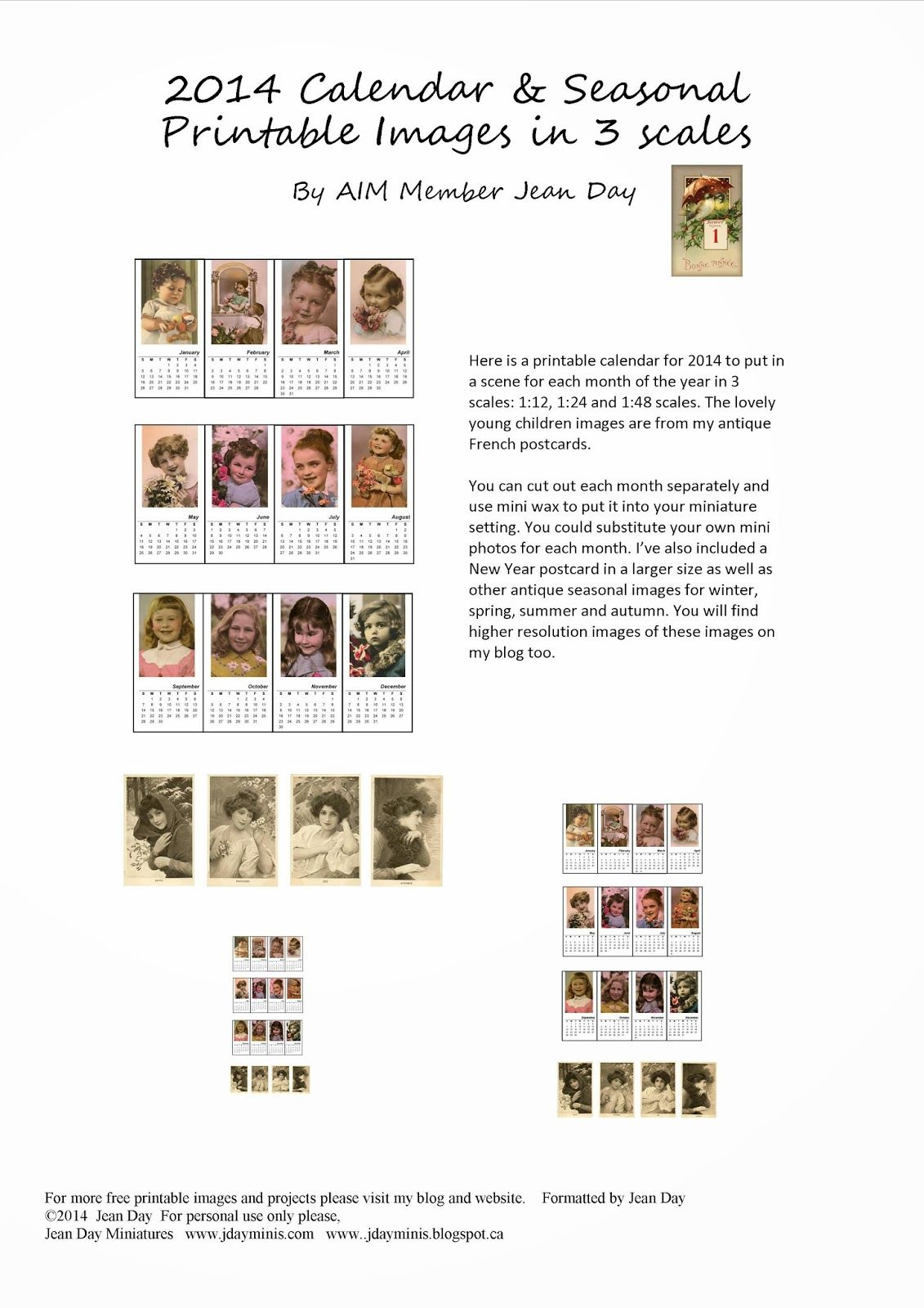 photograph relating to Free Printable Minis referred to as JDayMinis, 1:12 1:48 Scale Minis, Freebies Enthusiasm