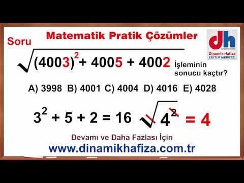 Matematikçilerin Sık Kullandığı 15 Matematik Hilesi Yks Tyt Ygs