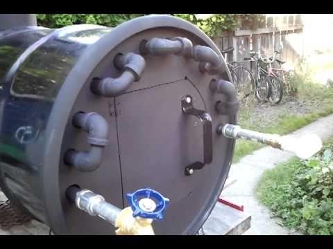 Wood Fire Hot Water Heater Youtube Floor Hearing
