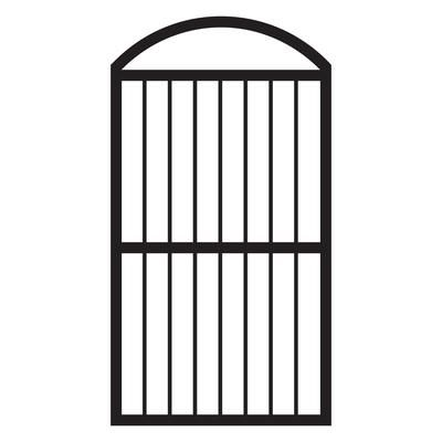 Rdi 4 Ft X 3 Ft Satin Black Aluminum Fence Gate Kit 73020654