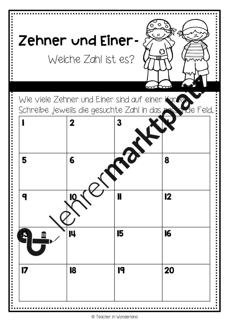 Schleichaufgaben: Zehner und Einer – Mathematik | Pinterest | Zehner ...
