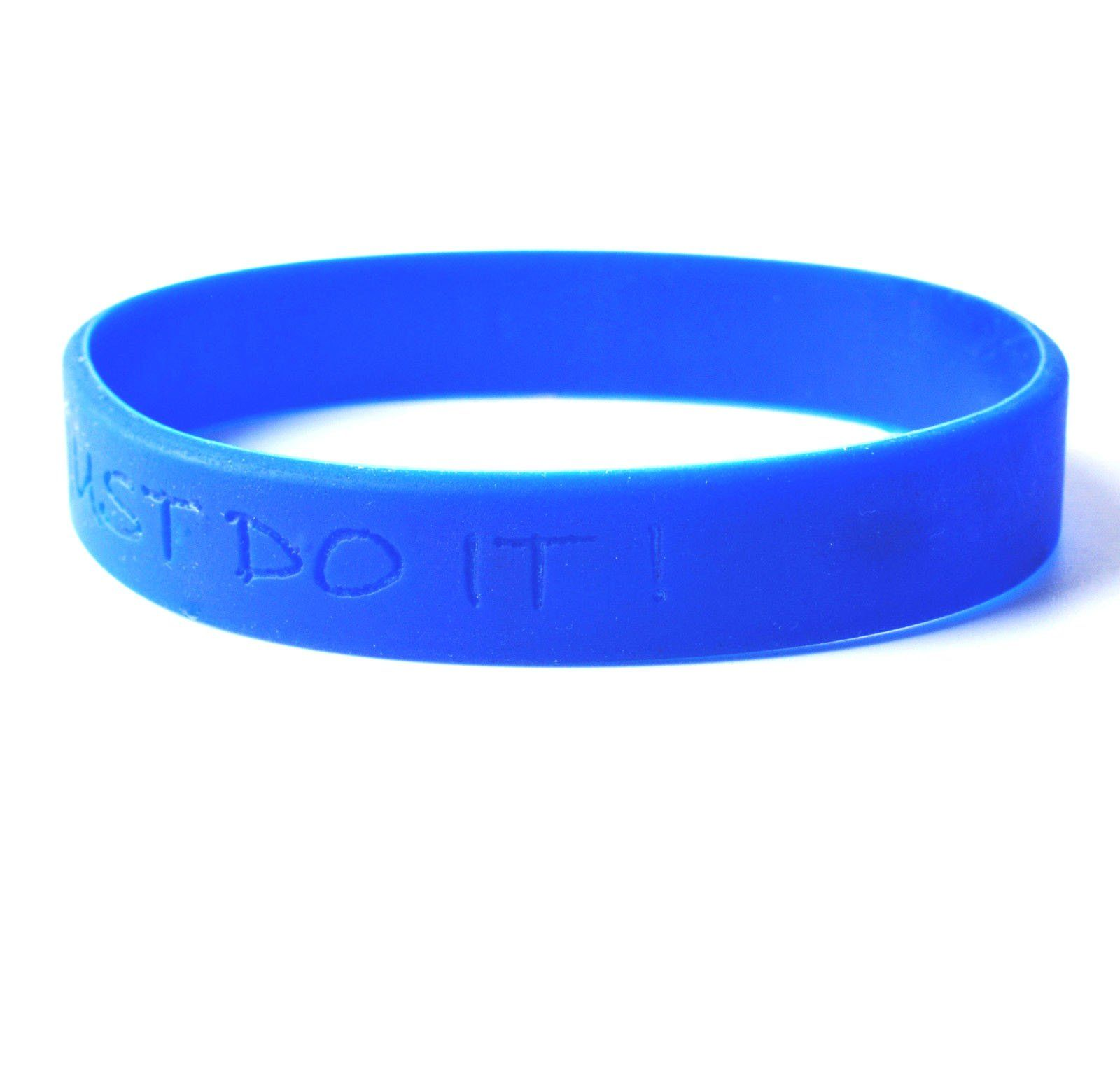 Gp Personalized Rubber Bracelets For Kids Silicone Bracelet Custom Wristband Blue Wristbands Please Must Send Your Customization