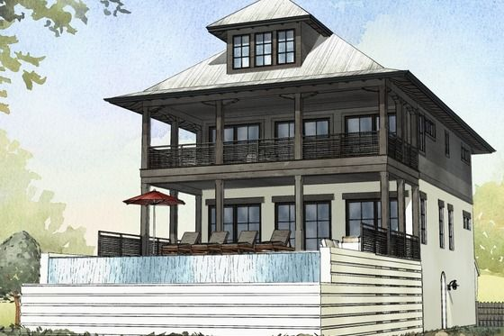 Plan #901-114 - Houseplans Beach House Pinterest House