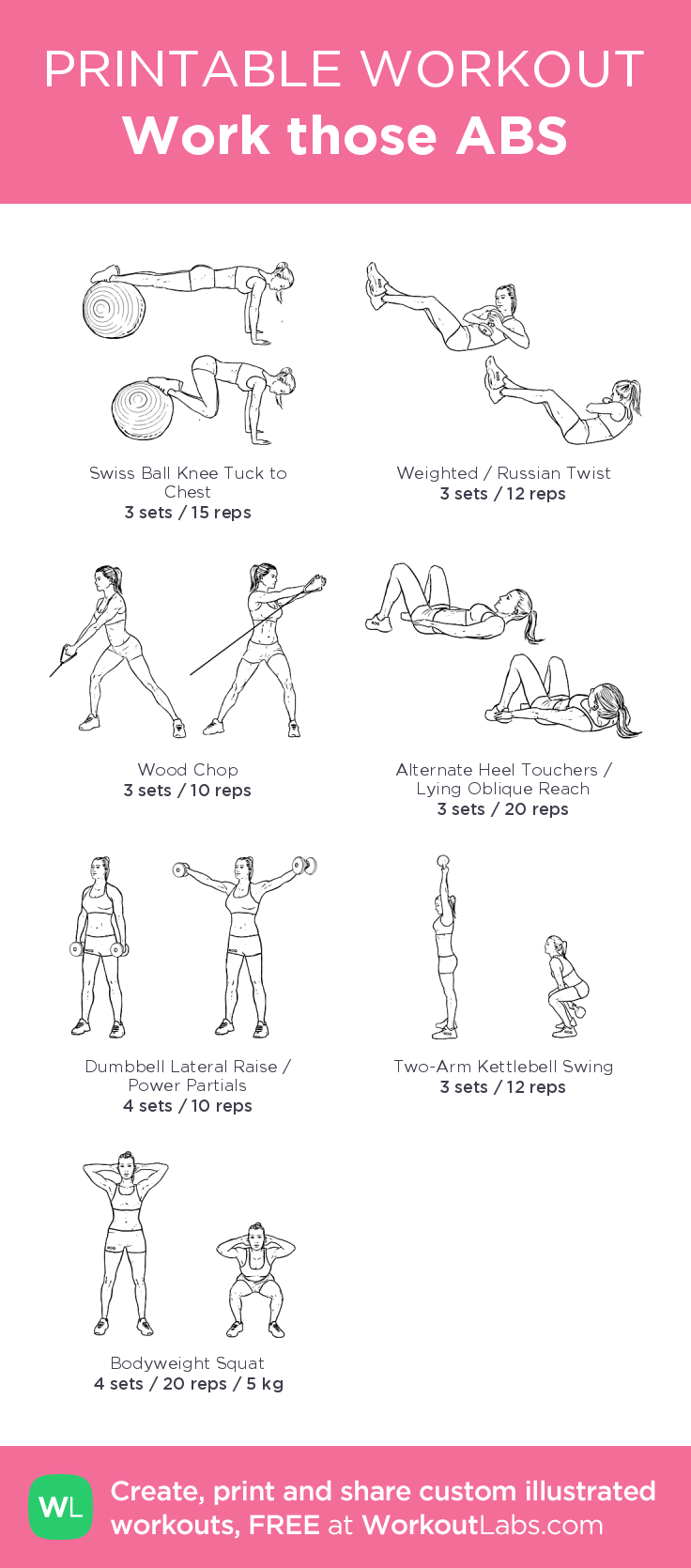 Work those ABS– my custom exercise plan created at