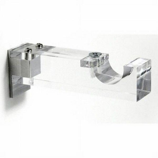 3 3 4 Single Clear Acrylic Bracket For 1 1 8 Curtain Rod Each