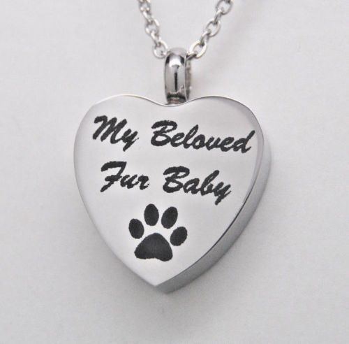 Paw cremation urn necklace my beloved fur baby pet cremation paw cremation urn necklace my beloved fur baby pet cremation jewelry memorial aloadofball Choice Image