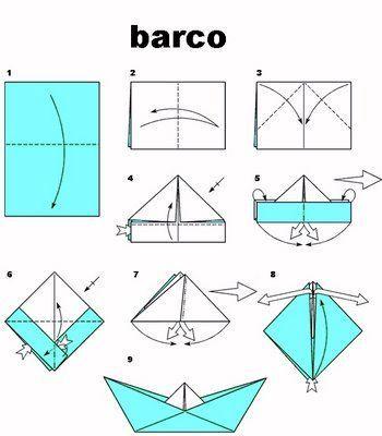 plegado de papel barco