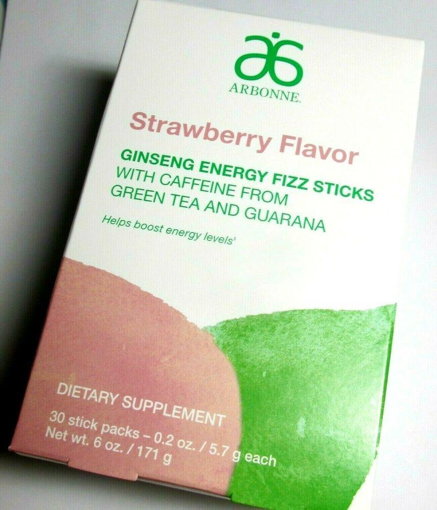 Arbonne Energy Fizz Sticks Strawberry Ginseng Flavor 30 Stick Pack Exp 2022 Ebay In 2020 Fizz Sticks Fizz Flavors