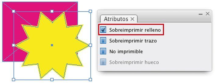 Documento-Guía sobre laSobreimpresiónen Indesign, en el cual explico cómo se efectúa la sobreimpresión de elementos y tintas de impresión.