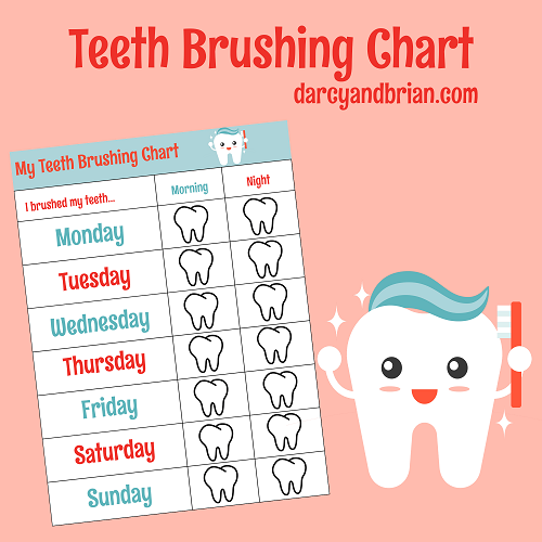 graphic regarding Printable Tooth Brushing Charts identified as How In the direction of Brush Your Enamel For Small children With Cost-free Chart