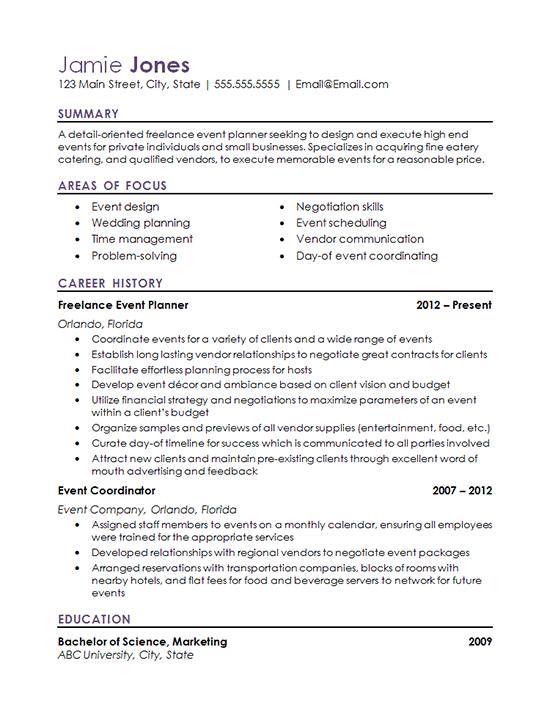 Event Coordinator Resume Example Resume Examples Event