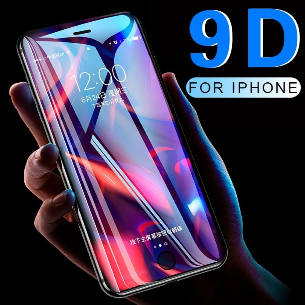 9d full coverage protective glass for iphone 6 6s 7 8 plus