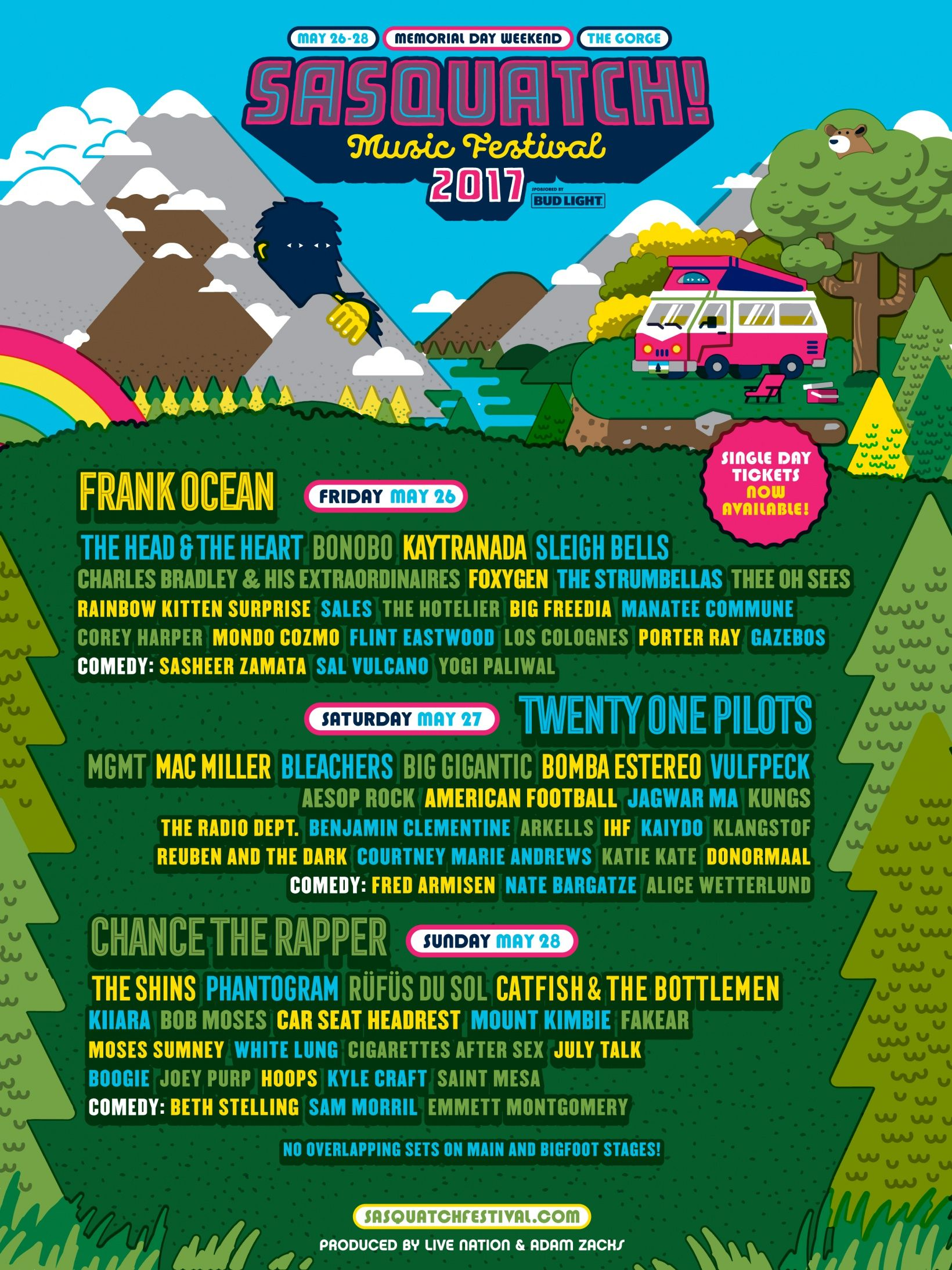 A 4 Day Music Festival On Memorial Day Weekend At The Scenic Gorge In Central Washington State Sasquatch Music Festival Music Festival Rainbow Kitten Surprise