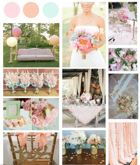 A Blush Pink, Peach And Mint Theme With A Touch Of Gold