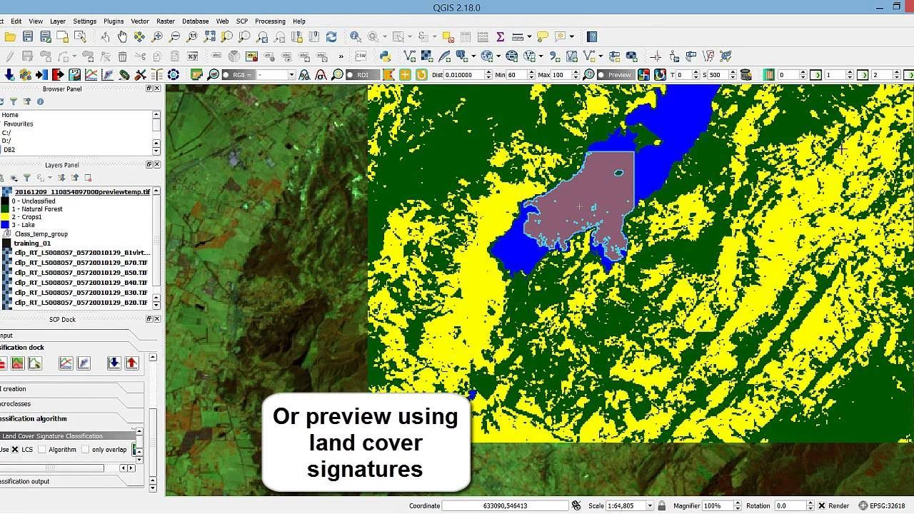 Creating Training Inputs And Spectral Signatures For Image Classification In Qgis Image Signature Remote Sensing