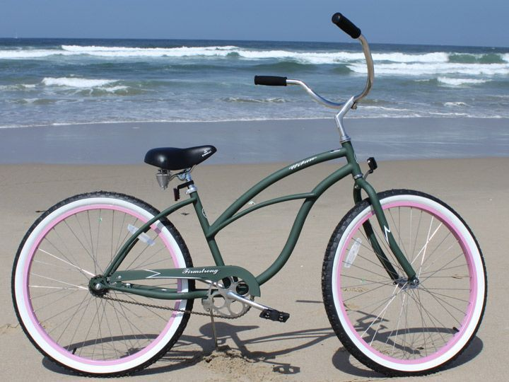 Army Green And Pink Beach Cruiser Such A Cute Color Combo
