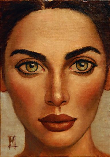 "NEW WOMEN 16 by Mollie Erkenbrack Oil ~ 7"" x 5"". (SOLD)"