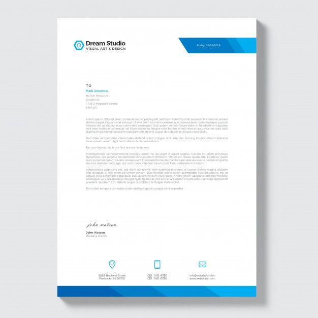 Free Letterhead Company Docs Pinterest Company letterhead