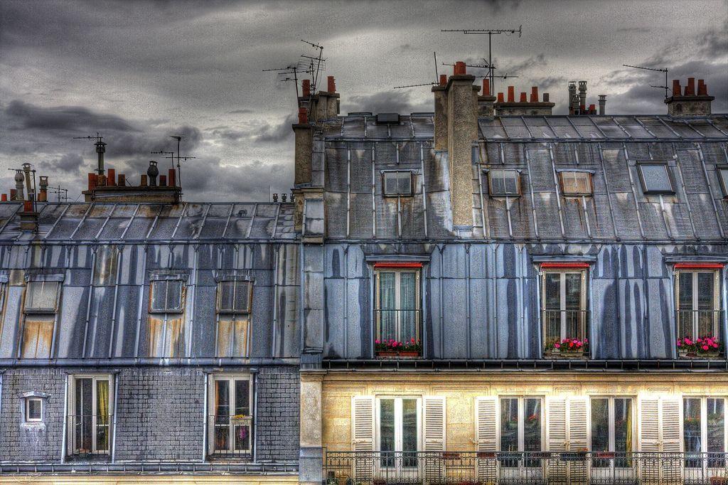 Toits de zinc de la rue Soufflot Paris rooftops, Paris